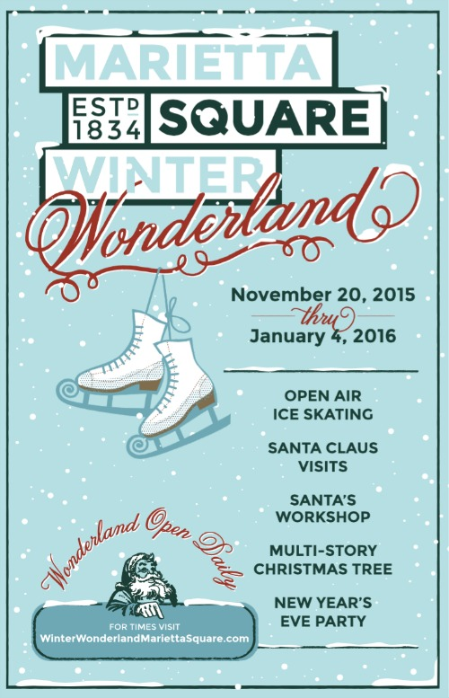 Marietta in East Cobb, GA has a winter wonderland and skating ring! New for 2015 via @redheadbabymama