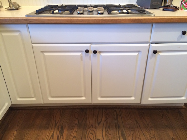 Kitchen stovetop and cabinets