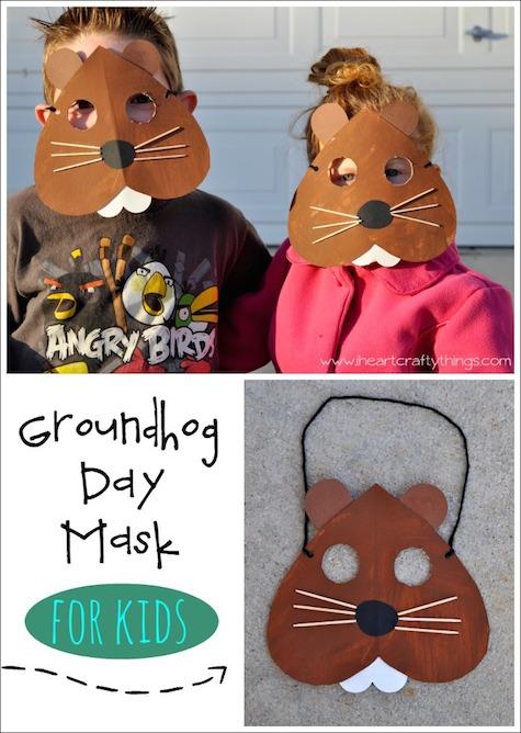 Groundhog Day Mask Craft
