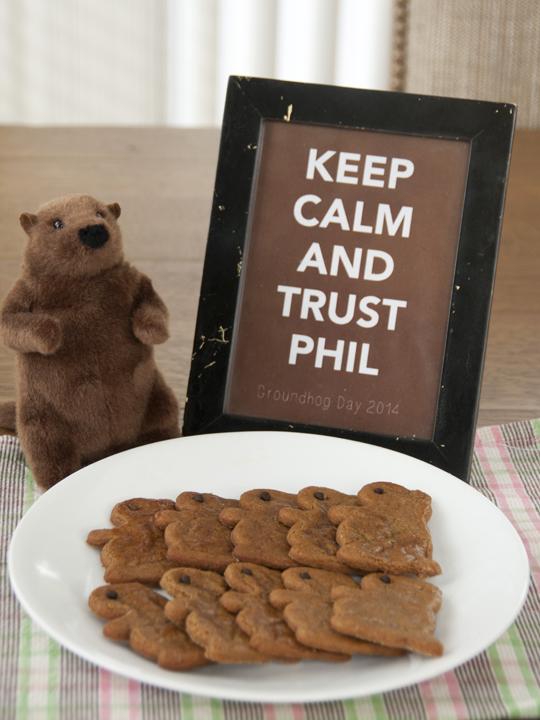 Groundhog Day Molasses Cookies