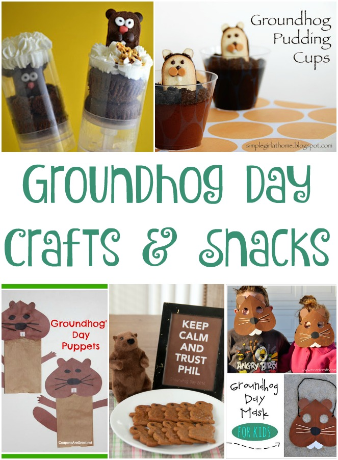 Groundhog Day Crafts and Snacks Roundup
