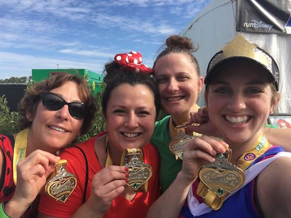 Princess half marathon 2016 MEDALS!