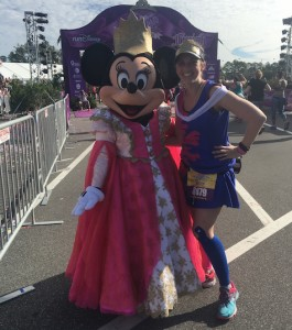 Princess half marathon 2016 FInish Line with Minnie