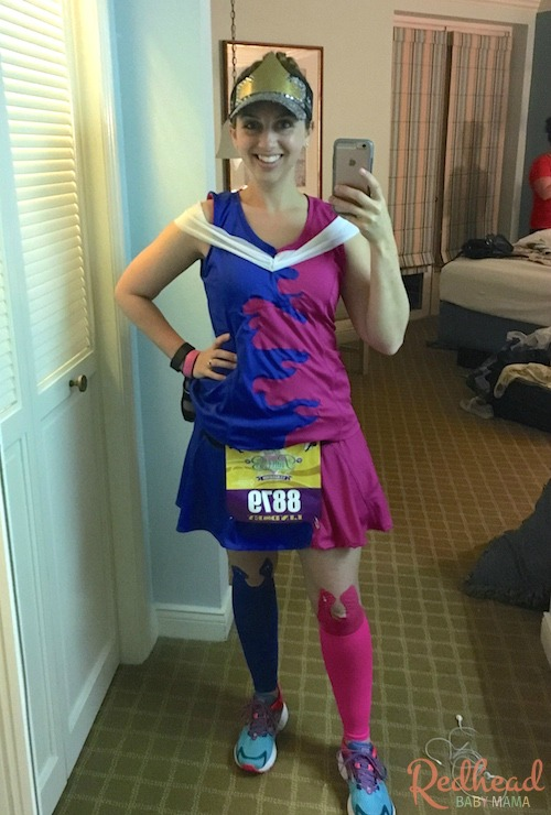 Sleeping Beauty's Pink and Blue mess dress running Costume for the Princess Half Marathon 2016 #PrincessHalf #run