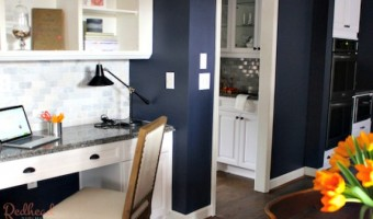 Kitchen Makeover desk area - all matching countertops!