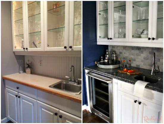Before and After BUtler Pantry Makeover