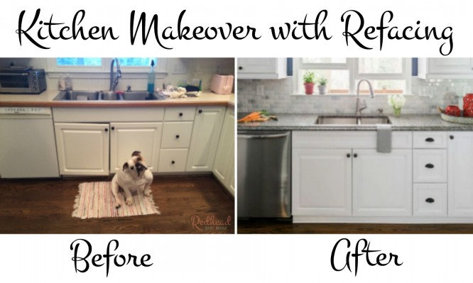 The most beautiful kitchen refacing makeover complete with granite and marble backsplash! This was NOT a gut job!