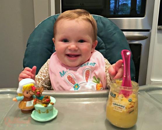 Scarlett and Beech-Nut corn chowder #babysfirstfoods