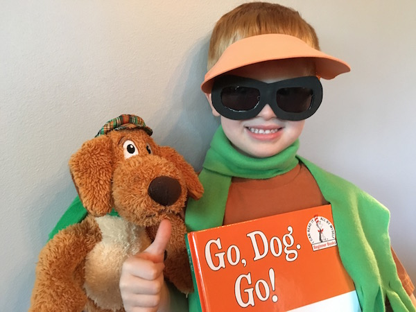 A No-Sew Go, Dog, Go! Costume Craft for National Reading Day