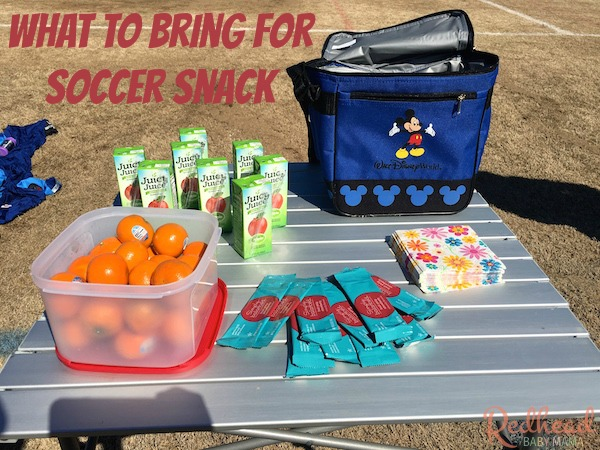 What do you bring for snack to your kids' soccer games? Here are a few ideas for soccer snacks!
