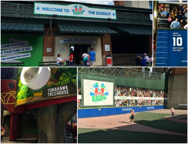 The CHOA Dugout features a treehouse, pretend field, and plenty of play area. It's free with your admission to a Braves Game