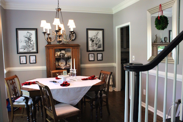 Alice Through the Looking Glass Dining Room Makeover