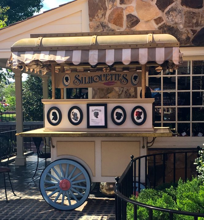 Silhouette cart in Magic Kingdom Park, Walt Disney World Resort