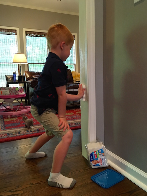 Chores for a Five-Year-Old: Wiping