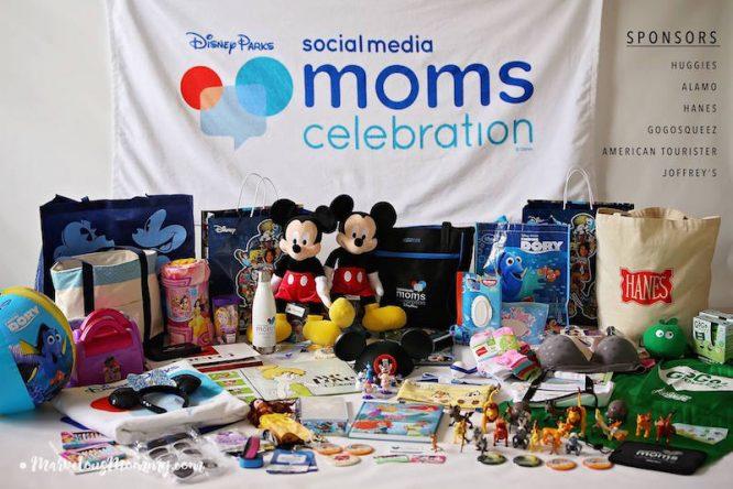 Disney Social Media Moms Celebration Swag 2016 - what a beautiful bounty of fun!