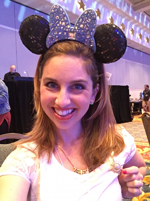 Blue has got to be my color! Thanks for the ears! #DisneySMMC