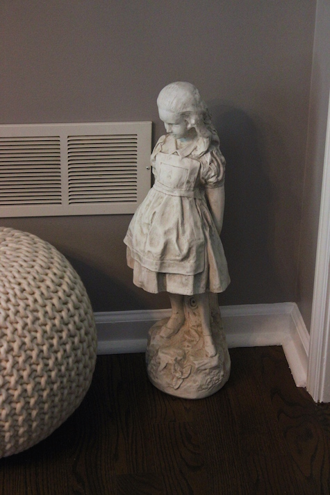 Alice Through the Looking Glass Statue