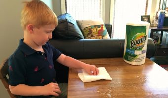 Chores for a Five-Year-Old: Cleaning up after dinner