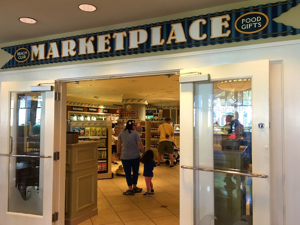 The Beach Club's Marketplace is a great place for quick service meals, souvenirs and snacks
