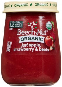 beech-nut Apple, Strawberry and Beet Jar