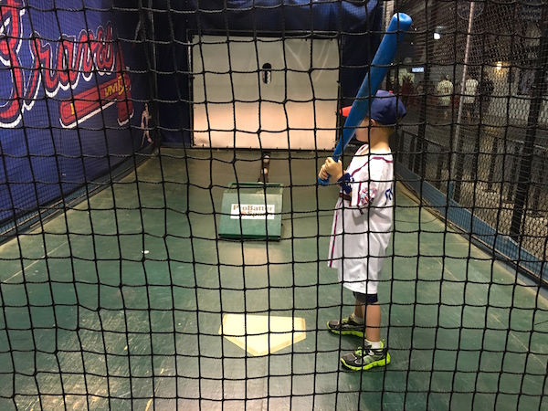 Braves Jr. Batting Practice in Scouts Alley #ChopOn