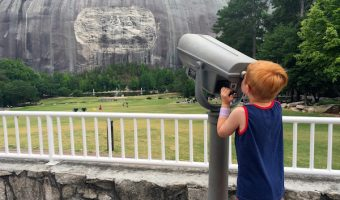 viewing stone mountain on the lawn