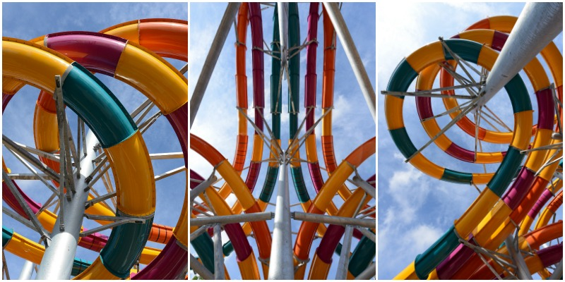 Six Flags White Water Wahoo Racer Slides Redhead Baby