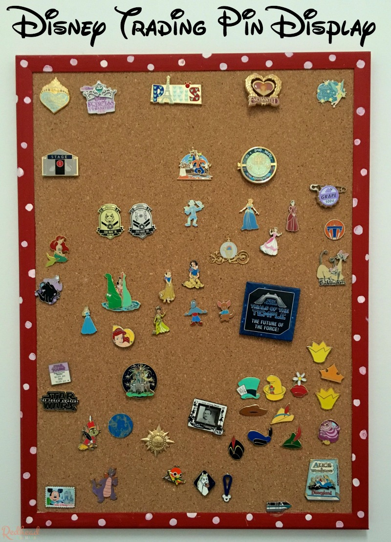Disney Trading Pin Display Board - Redhead Baby Mama | Atlanta Blogger