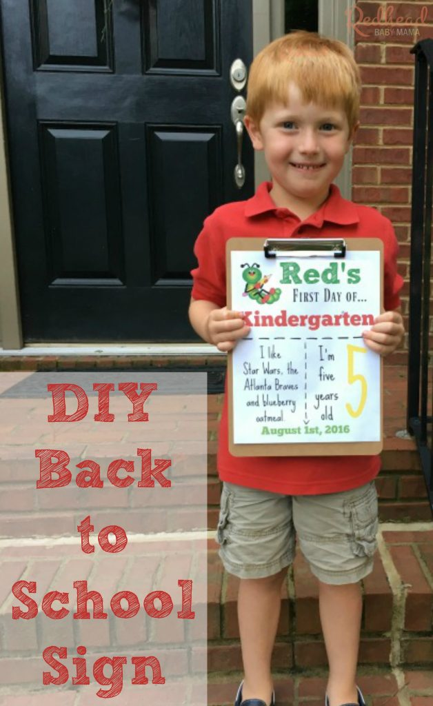 DIY! Make your own back to school sign on the computer in a few simple steps.