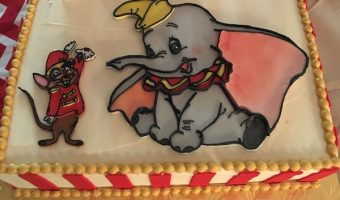 Dumbo and Timothy Mouse Circus Birthday Party Cake, made by Miss Mamie's in Marietta, GA