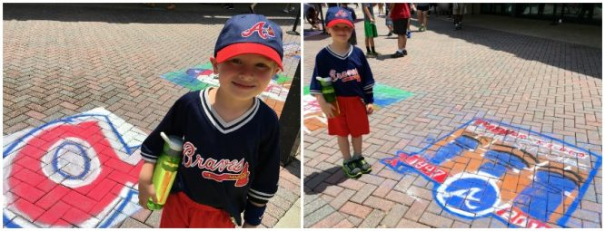 Sidewalk Chalk at the braves Back to School Bash