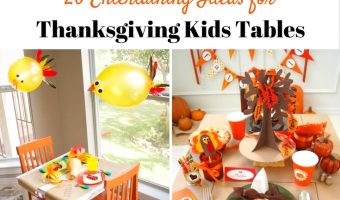 The only perk of the kids table used to be eating all the food. Now, it's the fun decor and table decor. Grab one or two of these entertaining ideas for your Thanksgiving Kids Table! | Redheadbabymama.com