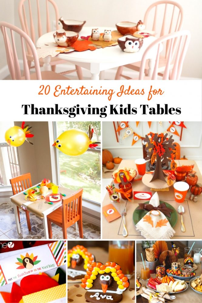 The only perk of the kids table used to be eating all the food. Now, it's the fun decor and table decor. Grab one or two of these entertaining ideas for your Thanksgiving Kids Tables! | Redheadbabymama.com