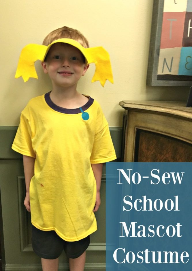 Make a no-sew costume for school friend mascot costume day