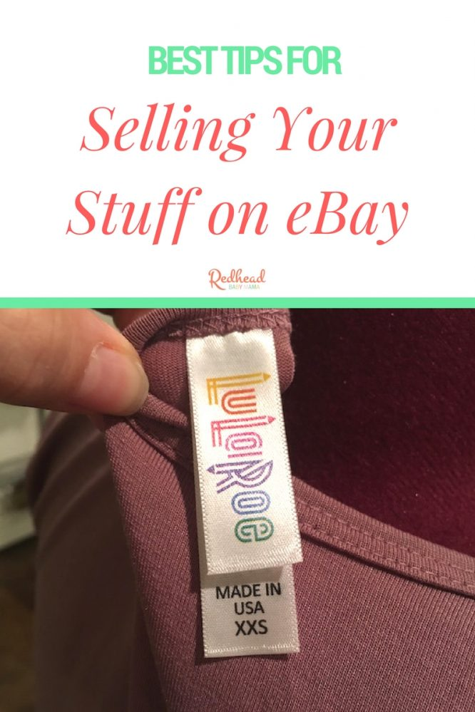 Here are my best tips for selling your stuff on ebay | Redheadbabymama.com