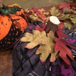 Halloween Fabric Pizza Pan Pumpkins