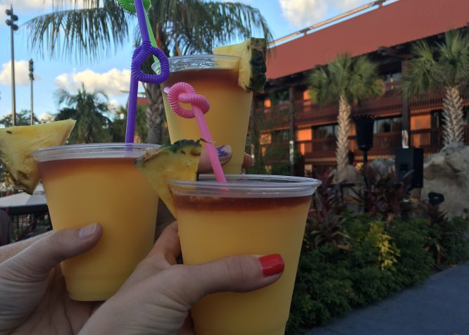 Spiked Dole Whips to go at Trader Sam's Grotto