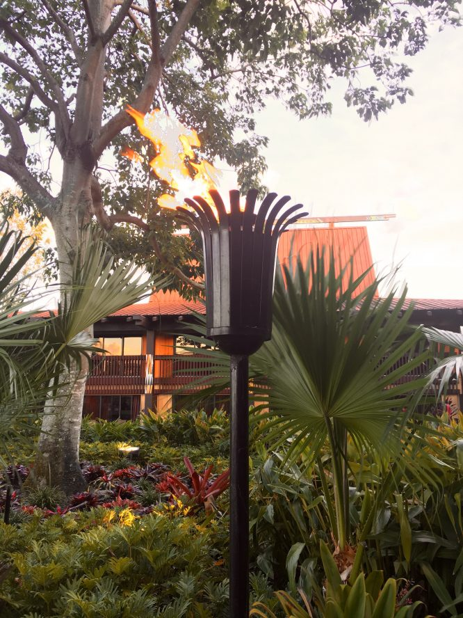 Torch Lighting Ceremony at Disney's Polynesian Hotel and Resort