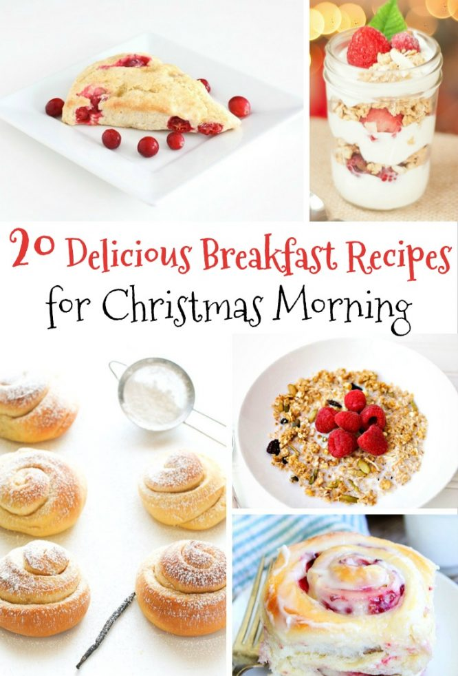 20 Delicious and Festive Recipes for Christmas Morning Breakfast | Redheadbabymama.com