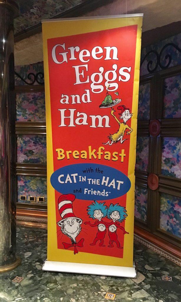 Seuss at Sea: Carnival's Green Eggs and Ham Breakfast   Redheadbabymama.com