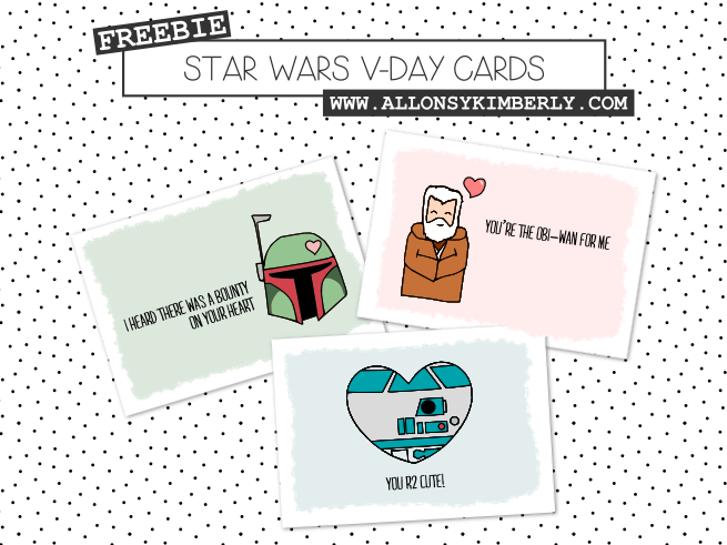 Star Wars Free Disney Inspired Printable Valentines | Redheadbabymama.com
