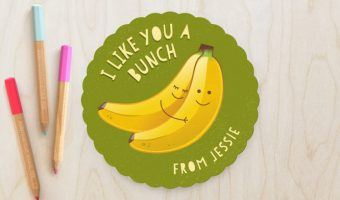 Banana Valentine for Classmates | Redheadbabymama.com