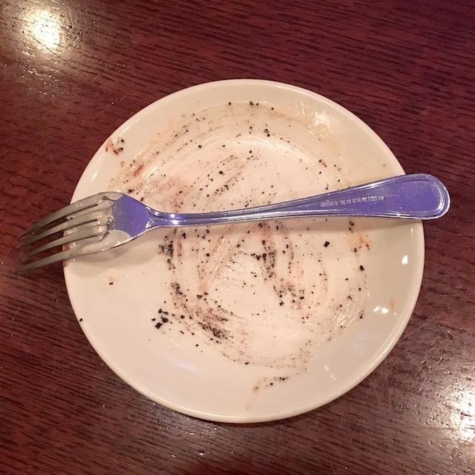 January Date Night Empty Dessert Plate