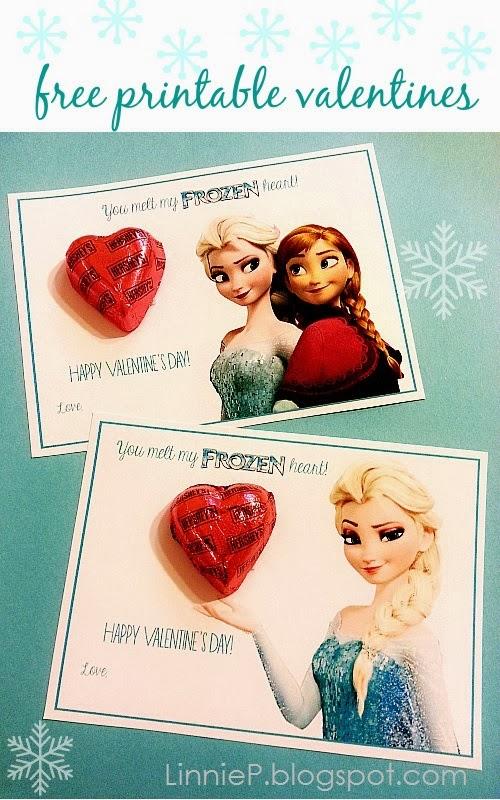 Frozen Anna and Elsa Free Disney Inspired Printable Valentines | Redheadbabymama.com