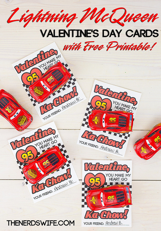 Cars Lighting McQueen Free Disney Inspired Printable Valentines | Redheadbabymama.com