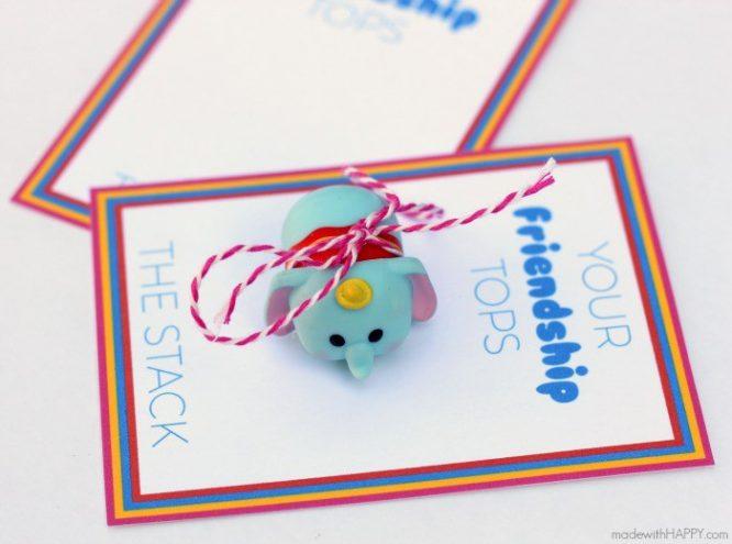 Tsum Tsum Free Disney Inspired Printable Valentines | Redheadbabymama.com