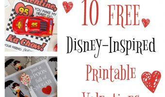 Free Disney Inspired Printable Valentines | Redheadbabymama.com