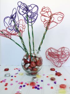 Creative Galaxy Inspired Yarn Heart Bouquet