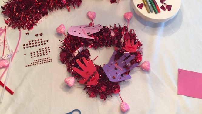 Valentine's Day Creative Galaxy Heart Day Hug Wreath inspired by Amazon's Creative Galaxy | Redheadbabymama.com