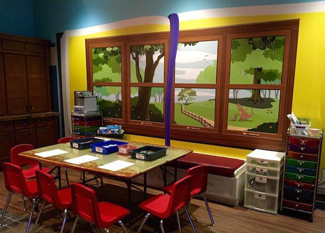Pooh Art Center | Lilo's Playhouse, Polynesian Resort Childcare at Disney | Redheadbabymama.com